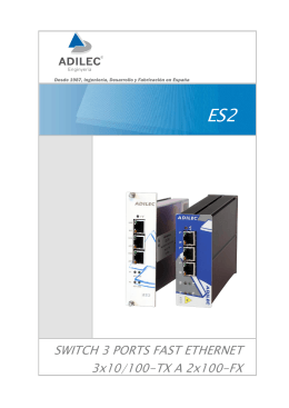 SWITCH 3 PORTS FAST ETHERNET 3x10/100-TX A 2x100