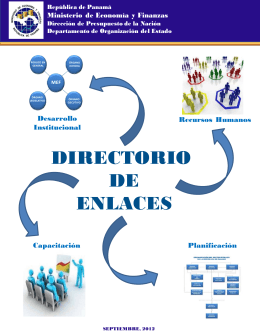 Directorio de Enlaces de Desarrollo Institucional,Capacitacion