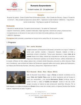 Rumanía Sorprendente - Santiago Tour Rumanía