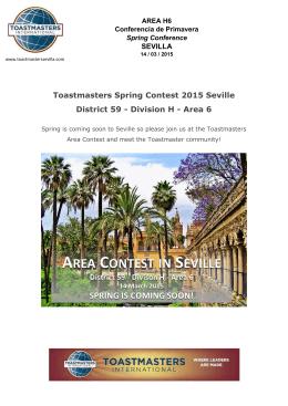 Area 6 - Toastmasters Sevilla