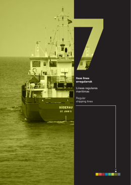 Líneas regulares marítimas