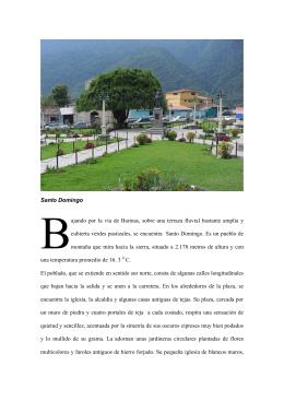 Santo Domingo ajando por la vía de Barinas