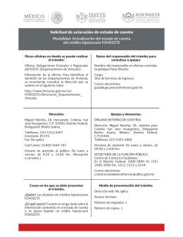 Actualización del estado de cuenta del crédito hipotecario FOVISSSTE
