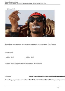 Snoop Dogg arrestado