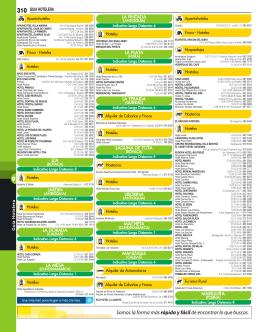310 GUIA HOTELERA - Paginas Amarillas de Latinoamérica