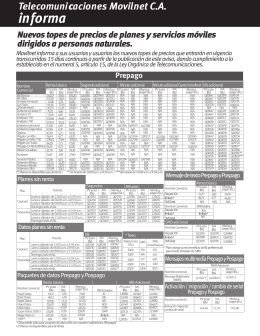 Planes Prepago y Pospago 2