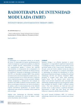 RADIOTERApIA DE INTENSIDAD MODuLADA (IMRT)