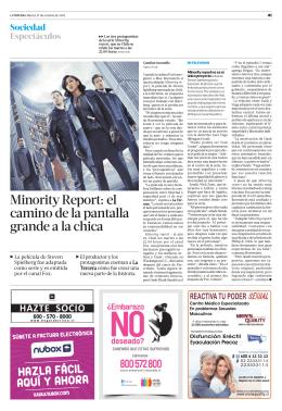 Minority Report: el camino de la pantalla grande a la