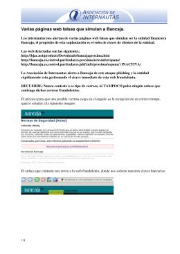 Varias páginas web falsas que simulan a Bancaja.