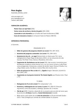 CV GUIONISTA en español