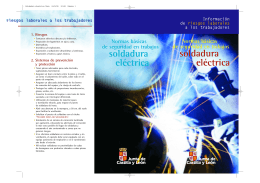 • Soldadura electrica Tere
