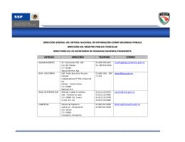 dirección general del sistema nacional de información