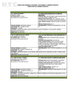 Enero 2014 - Dirección General de Radio, Televisión y