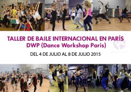 TALLER DE BAILE INTERNACIONAL EN PARÍS DWP