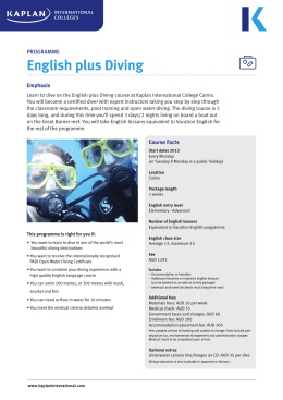 English plus Diving - Kaplan International English