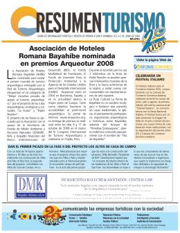Asociación de Hoteles Romana Bayahíbe nominada en premios