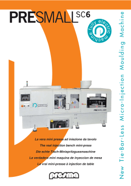 New Tie-Bar-Less Micro-Injection Moulding Machine