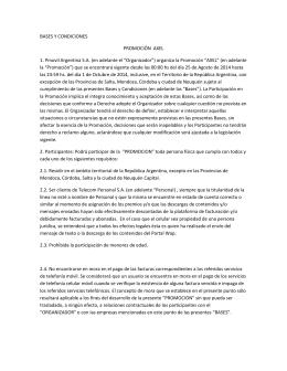 Promo Axel - Términos y condiciones