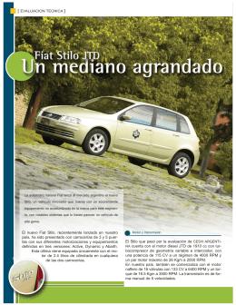 El nuevo Fiat Stilo, recientemente lanzado en