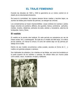 EL TRAJE FEMENINO