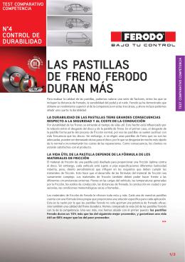 LAS PASTILLAS DE FRENO FERODO DURAN MÁS