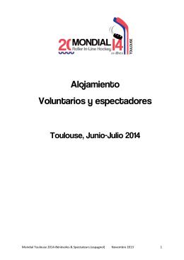 Alojamiento Voluntarios y espectadores