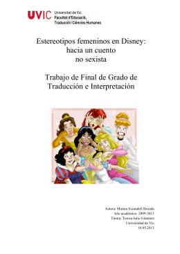 Estereotipos femeninos en Disney: hacia un cuento no sexista