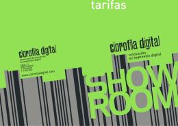 Tarifas - Clorofila Digital