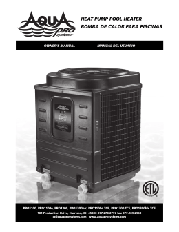 HEAT PUMP POOL HEATER BOMBA DE CALOR PARA PISCINAS
