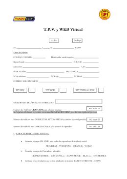 T.P.V. y WEB Virtual