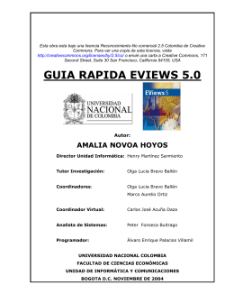 GUIA RAPIDA EVIEWS 5.0 - Facultad de Ciencias Económicas