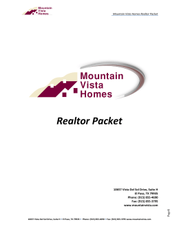 Realtor Packet - Mountain Vista Homes
