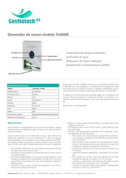 Generador de ozono modelo T4000B