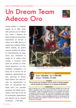 Un Dream Team Adecco Oro