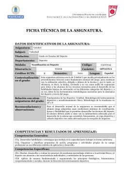 Voleibol - INEF - Universidad Politécnica de Madrid