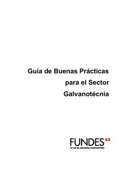 Guía de Buenas Prácticas para el Sector Galvanotécnia