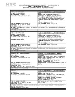 Septiembre 2011 - Dirección General de Radio, Televisión y