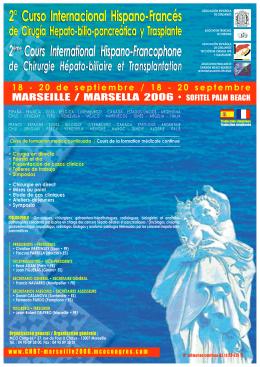 2° Curso Internacional Hispano-Francés 2ème Cours International