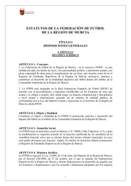 Estatutos de la Federación de Fútbol de la Región de Murcia