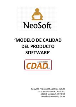 MODELO DE CALIDAD DEL PRODUCTO SOFTWARE