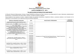 falsificación de productos sanitarios - Digemid