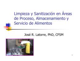 Limpieza y Sanitización en Áreas de Proceso, Almacenamiento y
