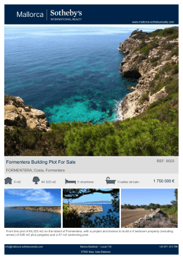 Formentera Building Plot For Sale