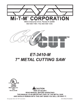 37-0746 JD ET-3410-J METAL SAW - Mi-T