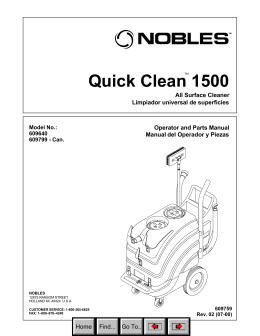 Quick Clean 1500 (Nobles All Surface Cleaner)