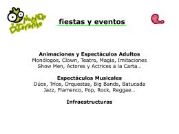 animaciones y fiestas temáticas