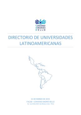 Directorio de universidades latinoamericanas
