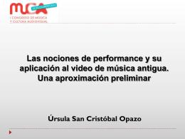Las nociones de performance y su aplicación al video de música