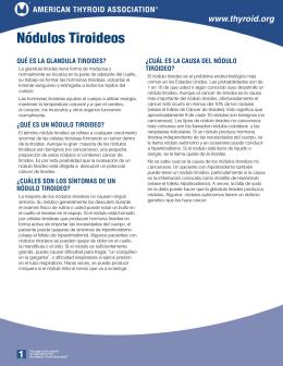 El folleto de Nódulos Tiroideos