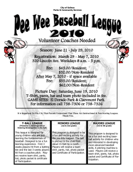 Volunteer Coaches Needed